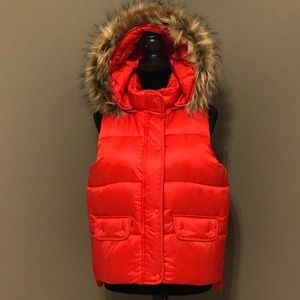 ABERCROMBIE & FITCH WOMENS HOODED PUFFER VEST JACK